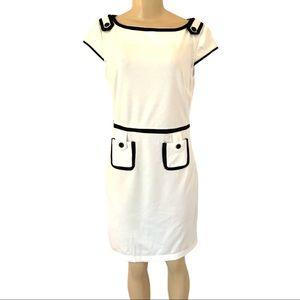 NWT Classic White Cotton Midi Summer Dress